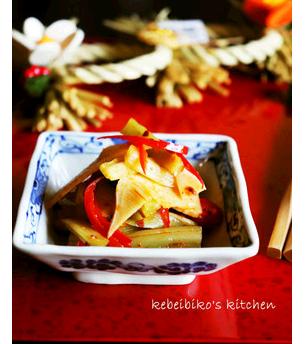 山くらげと筍の中華炒めの冷菜