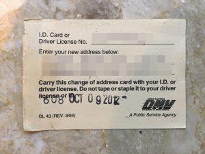 カリフォルニア 運転免許更新